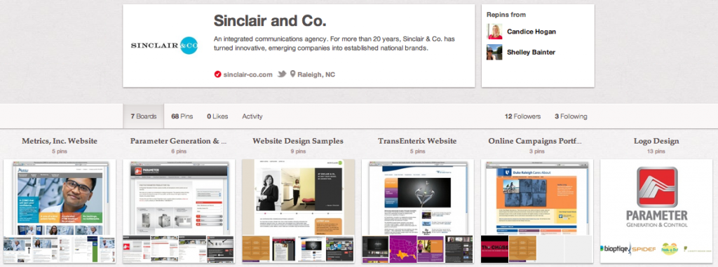 Sinclair Co.'s Pinterest Boards